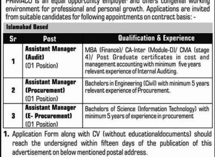 Download the PRIMACO Jobs 2019 application
