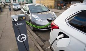 Electric Car Charging at the Street, Salford