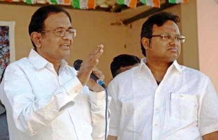 His father P. Chidambaram and Karti Chidambaram