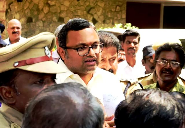 Detained Karti Chidambaram
