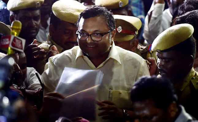 Karti Chidambaram questions INX media case