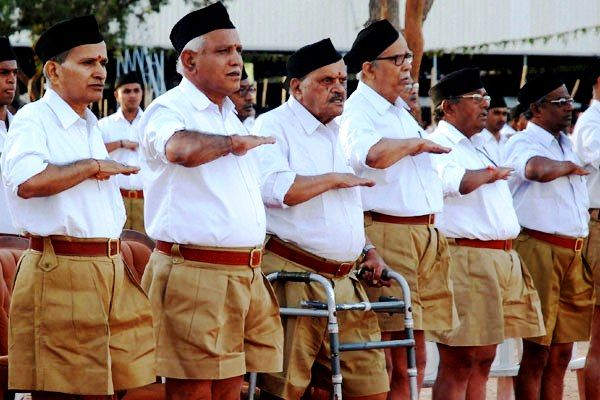 BS Yeddyurappa at RSS Conference