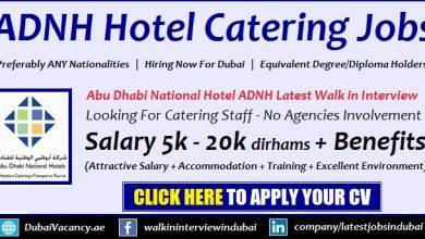 ADNH Jobs 2019 Abu Dhabi Walk in Interviews For Catering Staff