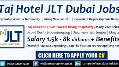 Taj Jumeirah Lakes Towers Dubai Jobs