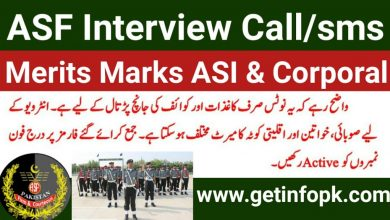 Airports Security Force ASF interview schedule - merits