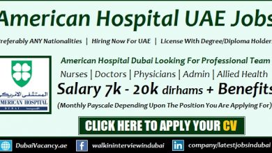 American Hospital Dubai Careers Announced Multiple Job Openings