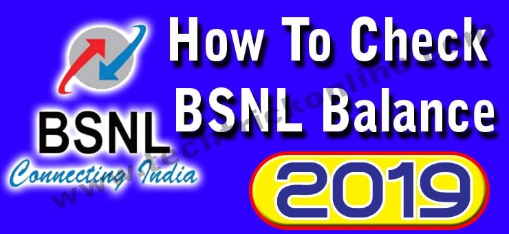 How to check your bsnl balance