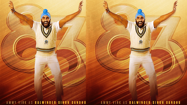 Ammy Virk Launches 83 Ranveer Singh Movie Character Poster by Balwinder Sandhu