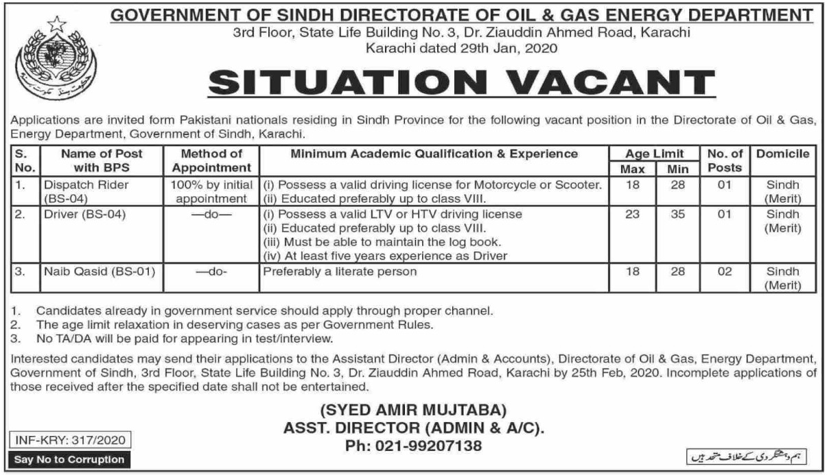 Sind Sun Government Director of Oil and Gas Energy Bureau in 2020